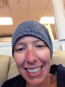 Author Erika at a chemo treatment